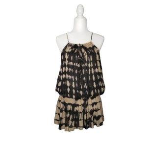 Elan Dresses - Elan Tie Dye Halter Boho Cold Shoulder Dress